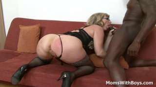 Blonde Granny Aja Fucks Massive Black Schlong