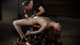 Masochistic redhead enjoys the harsh treatment