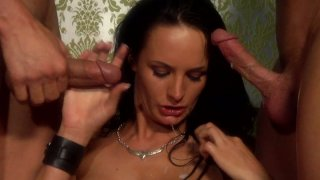 Two huge dudes and Alektra Blue have awesome threesome