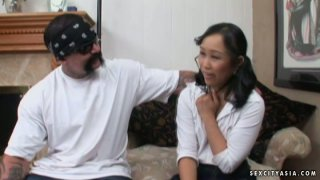 Shy girl Bella Ling getting fucked after much persuasions