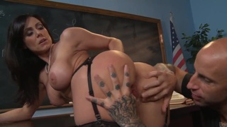 Big boobed teacher Kendra Lust is dick hungry