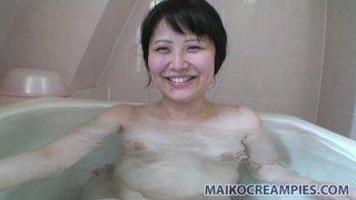Aki Kitamura goes crazy sucking lollicock