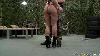 Big assed lady Devon Lee wants to get a higher rank