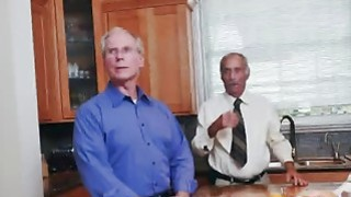 Amazing Blonde Teen Fucked By Old Guy On Couch