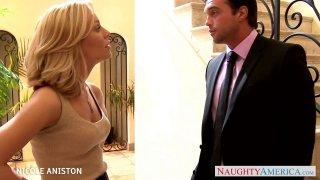 Golden haired hottie Nicole Aniston fucked well