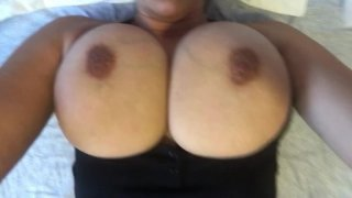 (More videos on my channel) Showing off her big tits #Onlyfans