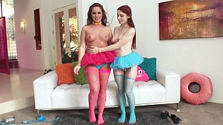 Maddy O'Reilly & Violet Monroe lesbian anal
