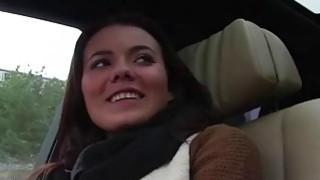 Euro hottie Vanessa Decker gets pussy banged in the car