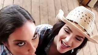 Cowgirls Go After A Lone Cowboy