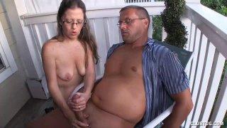 Mature Milf Offers Sensual Handjob To Her Man