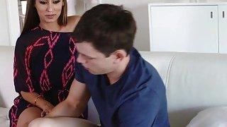 Alex feeds Jill Kassidy and Reena Sky his cock