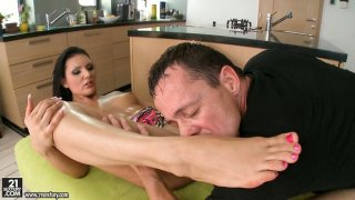 Passionate Sandra Long gets banged hard from behind