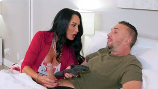 Rita Daniels gives masterful blowjob to Keiran Lee