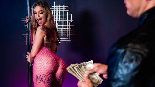 Stripper got her client trapped