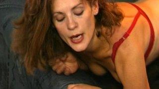 Brunette MILF In Black Stockings Anal Fucked
