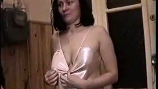 Sexy GF in her nigh gown rides cock and sucks finger