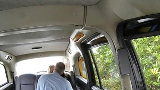 Big juggs blondie passenger gets banged by the driver