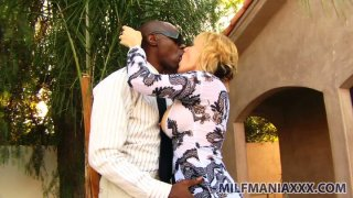 Nicely dressed black man seduces Sunny Day for hardcore sex