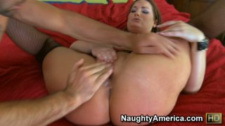 Fat and nasty Flower Tucci getting gash-lashing and jumping on a cock