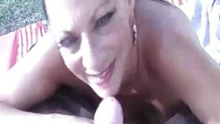 Lucky Guy Lets Horny Milf Check His Meaty Rod