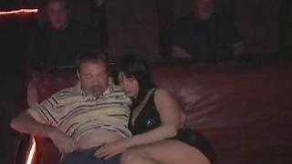 Three hole slut Anna fucks a crowd in the porn movie theater