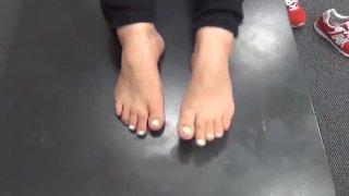 Cute Mixed Pregnant Woman Feet