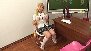 Anal dildo POV in the class
