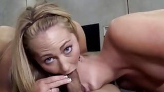 College bitch sucking fake agent penis