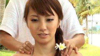 Torrid Asian nympho Azusa Yamamoto works greatly on camera