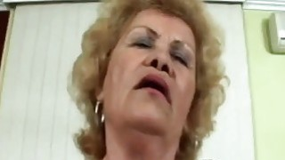 60 year old granny gets down and dirty as she shows all her skills with cock